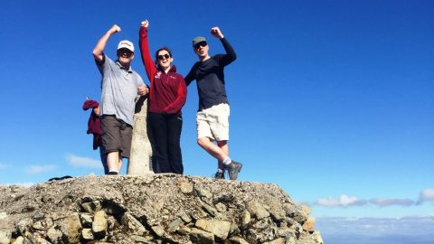 Elaborate conquers the three peaks for charity