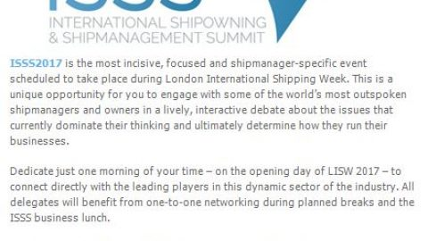 International Shipowning and Shipmanagement Summit announced